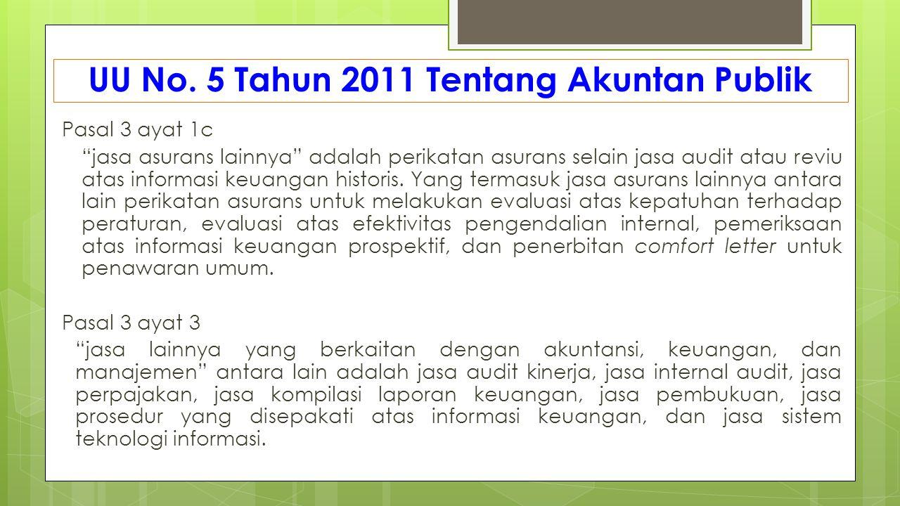 UU No. 5 Tahun 2011 Tentang Akuntan Publik