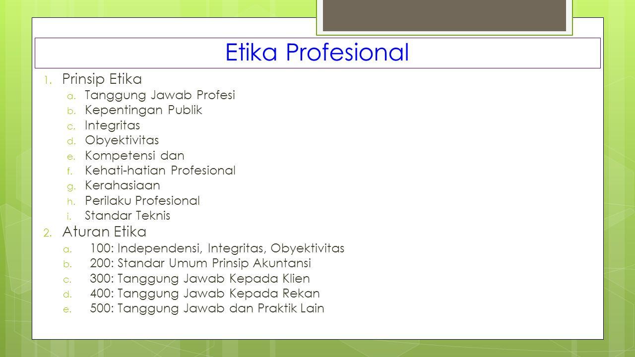 Etika Profesional Prinsip Etika Aturan Etika Tanggung Jawab Profesi