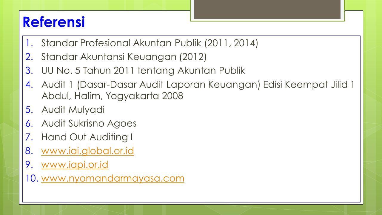 Referensi Standar Profesional Akuntan Publik (2011, 2014)
