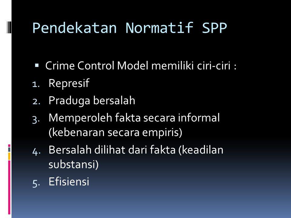 Pendekatan Normatif SPP