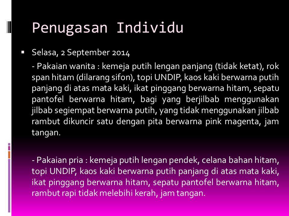 Penugasan Individu Selasa, 2 September 2014