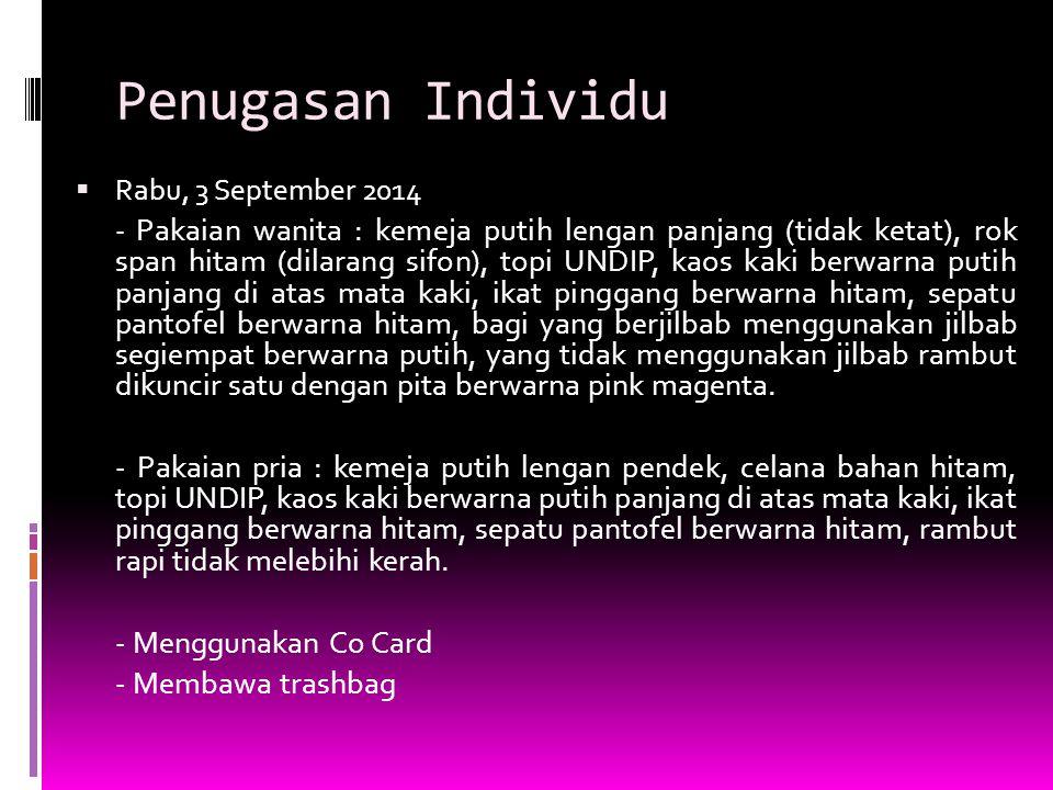 Penugasan Individu Rabu, 3 September 2014.