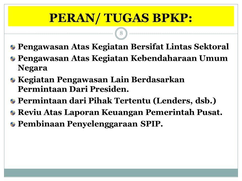 PERAN/ TUGAS BPKP: Pengawasan Atas Kegiatan Bersifat Lintas Sektoral