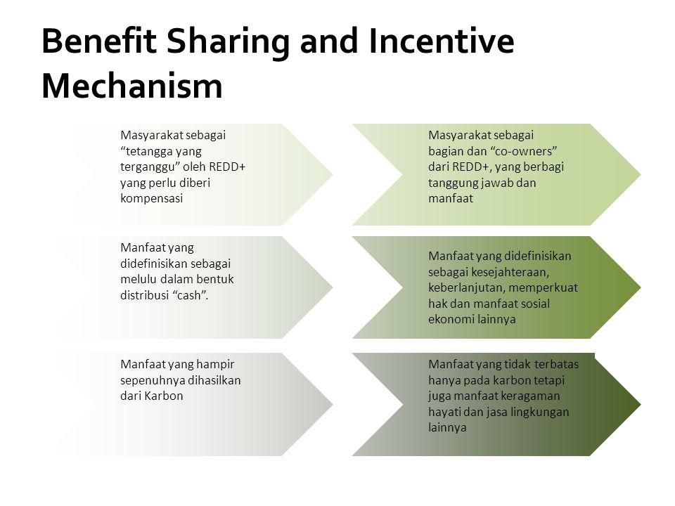 Benefit Sharing and Incentive Mechanism