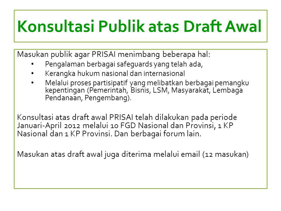 Konsultasi Publik atas Draft Awal