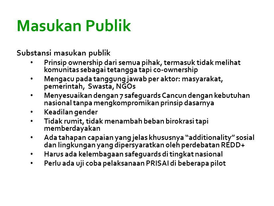Masukan Publik Substansi masukan publik