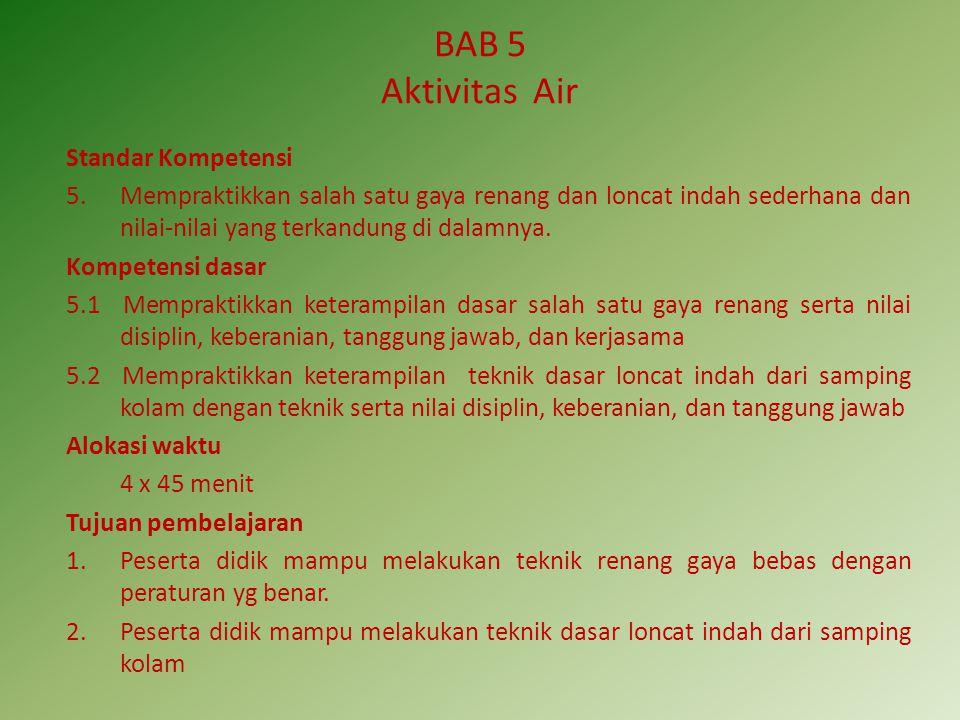 BAB 5 Aktivitas Air Standar Kompetensi