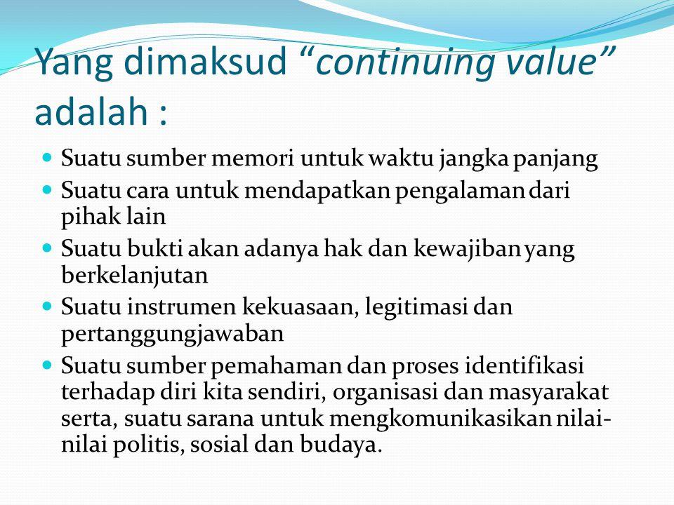 Yang dimaksud continuing value adalah :