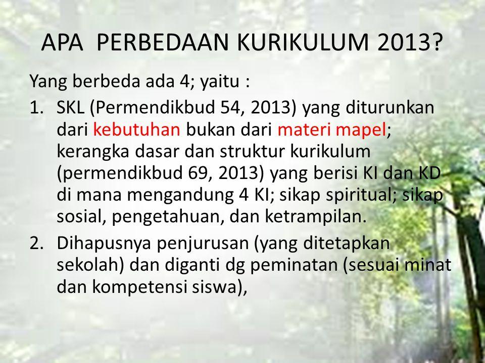 APA PERBEDAAN KURIKULUM 2013