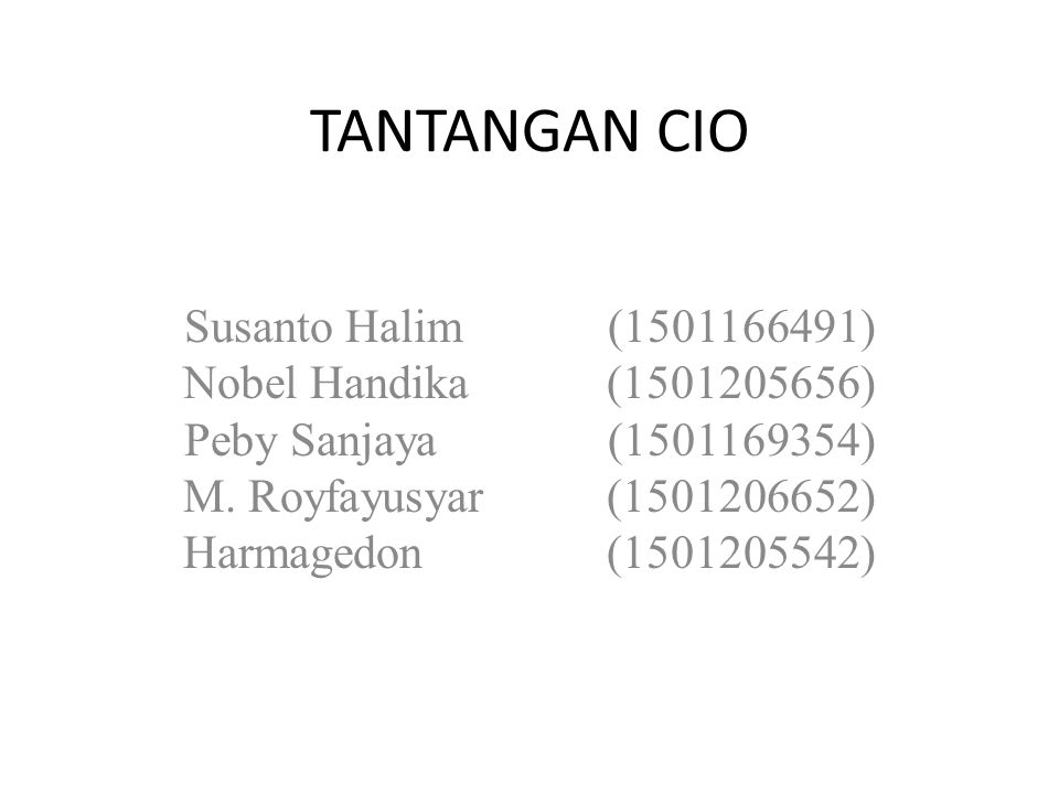 TANTANGAN CIO