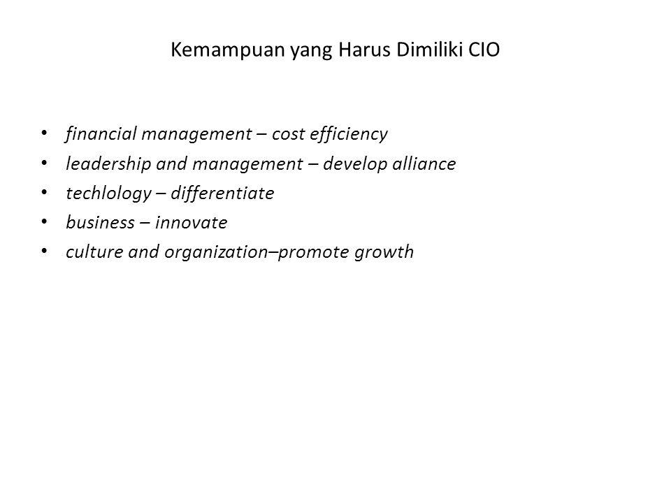 Kemampuan yang Harus Dimiliki CIO