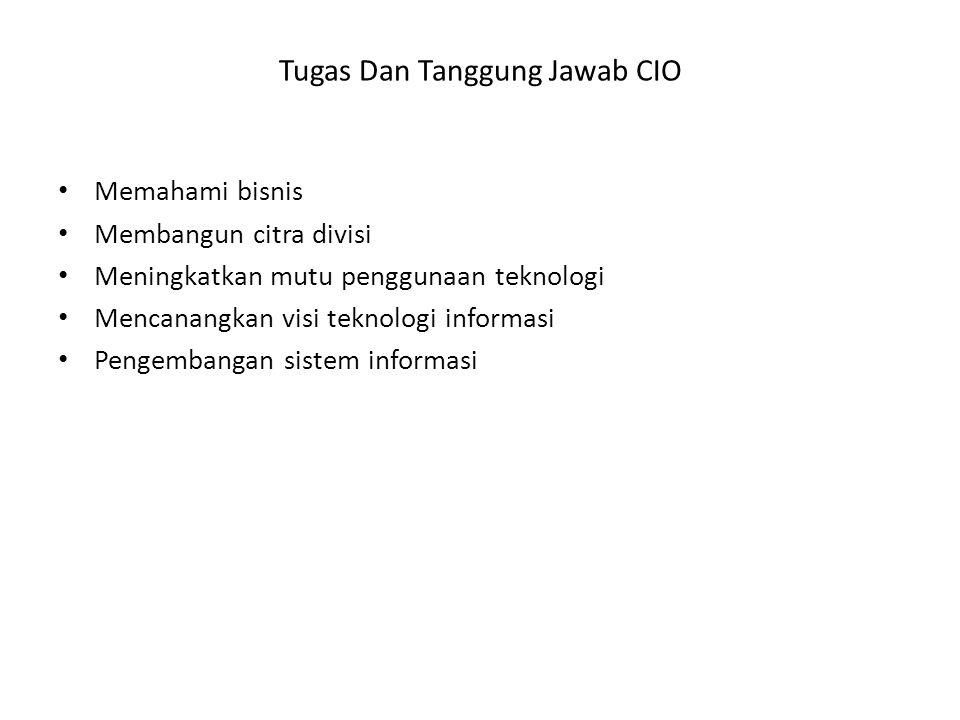 Tugas Dan Tanggung Jawab CIO