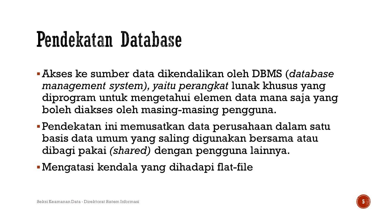 Pendekatan Database