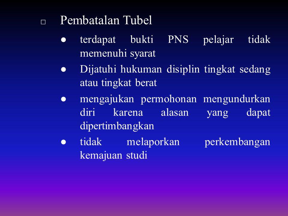 ● terdapat bukti PNS pelajar tidak memenuhi syarat