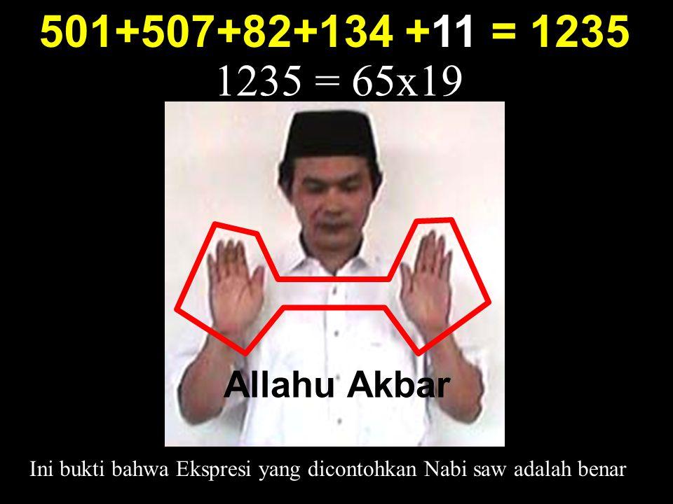 Ini bukti bahwa Ekspresi yang dicontohkan Nabi saw adalah benar