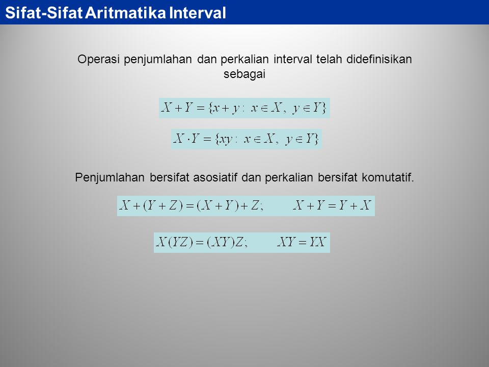 Sifat-Sifat Aritmatika Interval