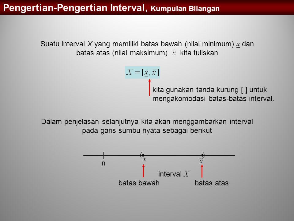 Pengertian-Pengertian Interval, Kumpulan Bilangan