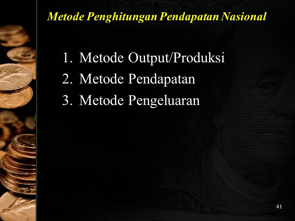 Metode Penghitungan Pendapatan Nasional