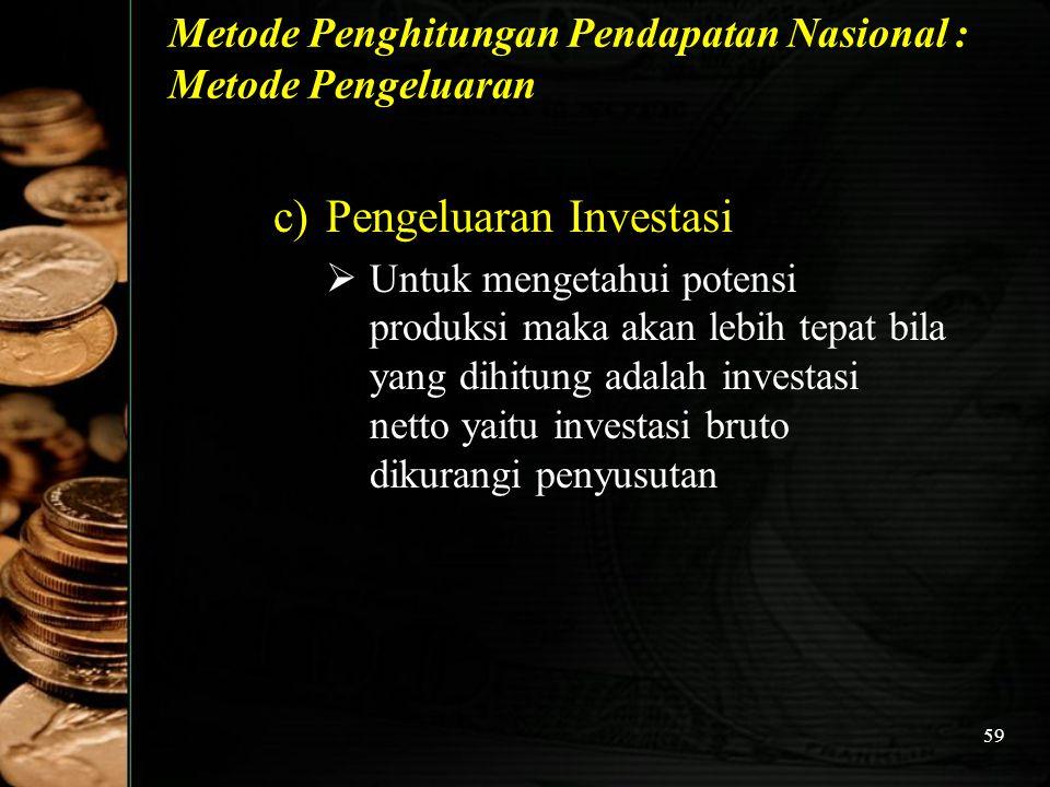 Metode Penghitungan Pendapatan Nasional : Metode Pengeluaran