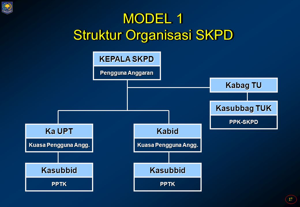 MODEL 1 Struktur Organisasi SKPD