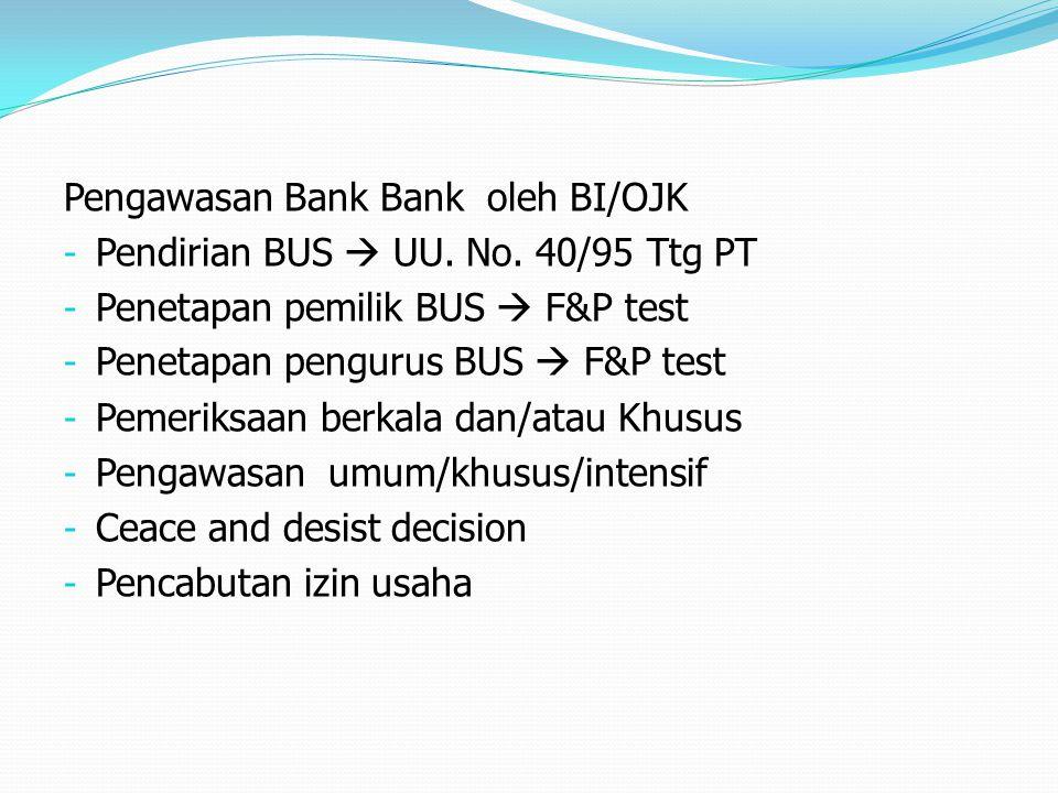 Pengawasan Bank Bank oleh BI/OJK