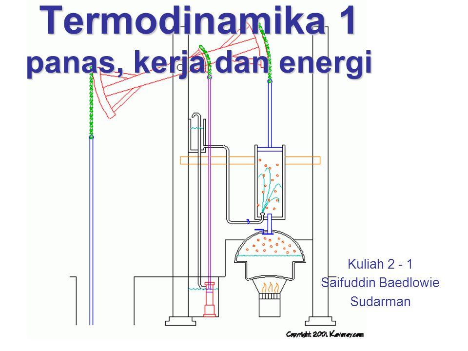 Termodinamika 1 panas, kerja dan energi