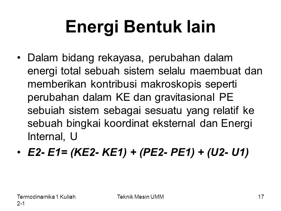 Energi Bentuk lain