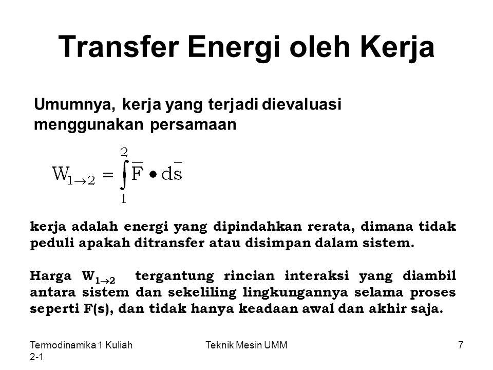 Transfer Energi oleh Kerja