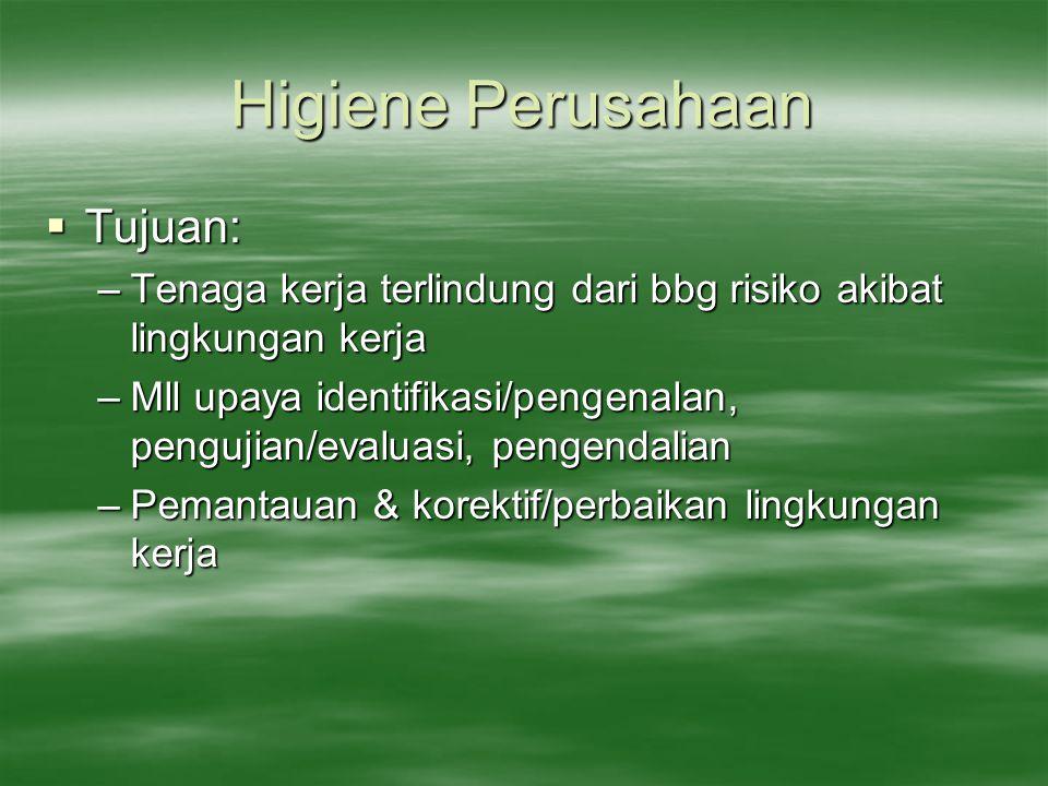 Higiene Perusahaan Tujuan: