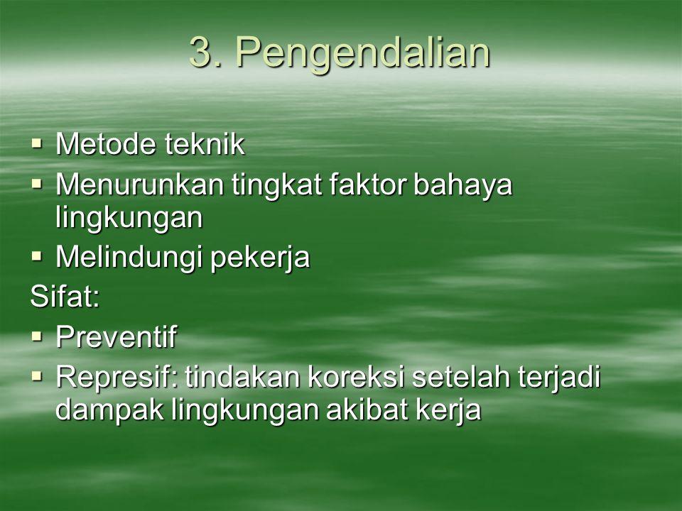 3. Pengendalian Metode teknik