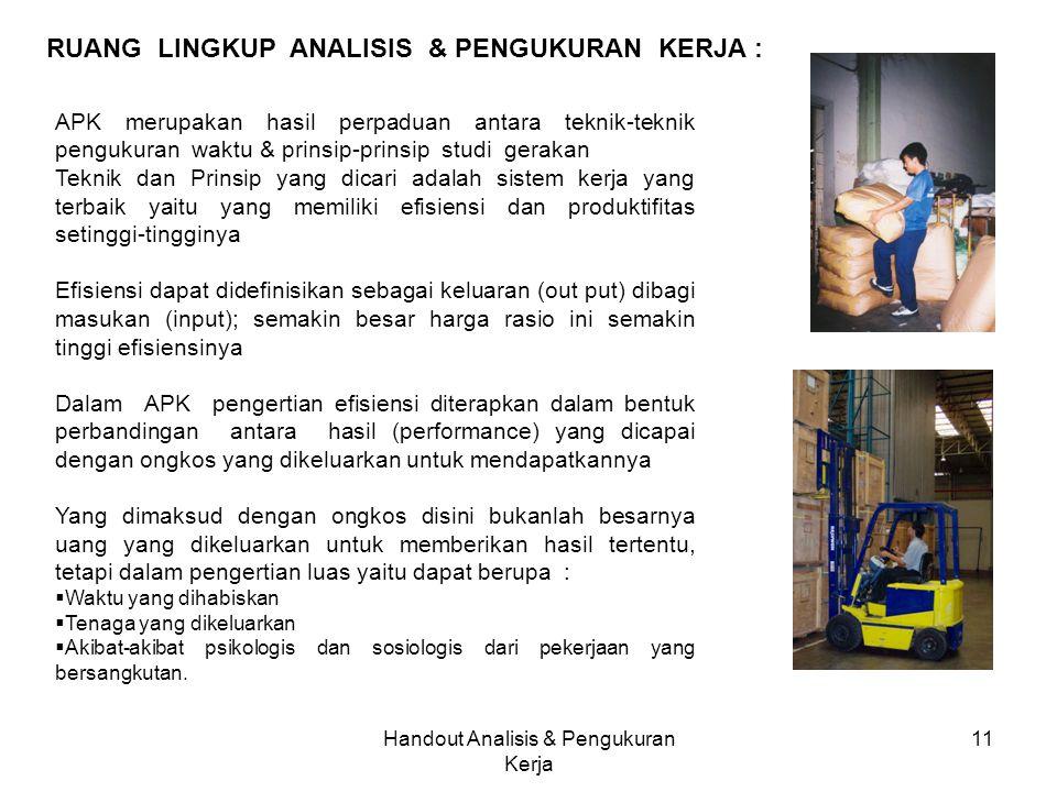 Handout Analisis & Pengukuran Kerja