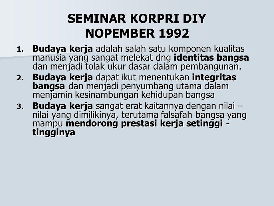 SEMINAR KORPRI DIY NOPEMBER 1992