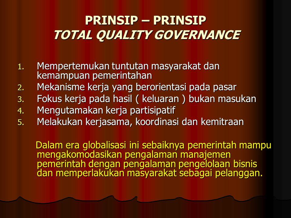 PRINSIP – PRINSIP TOTAL QUALITY GOVERNANCE