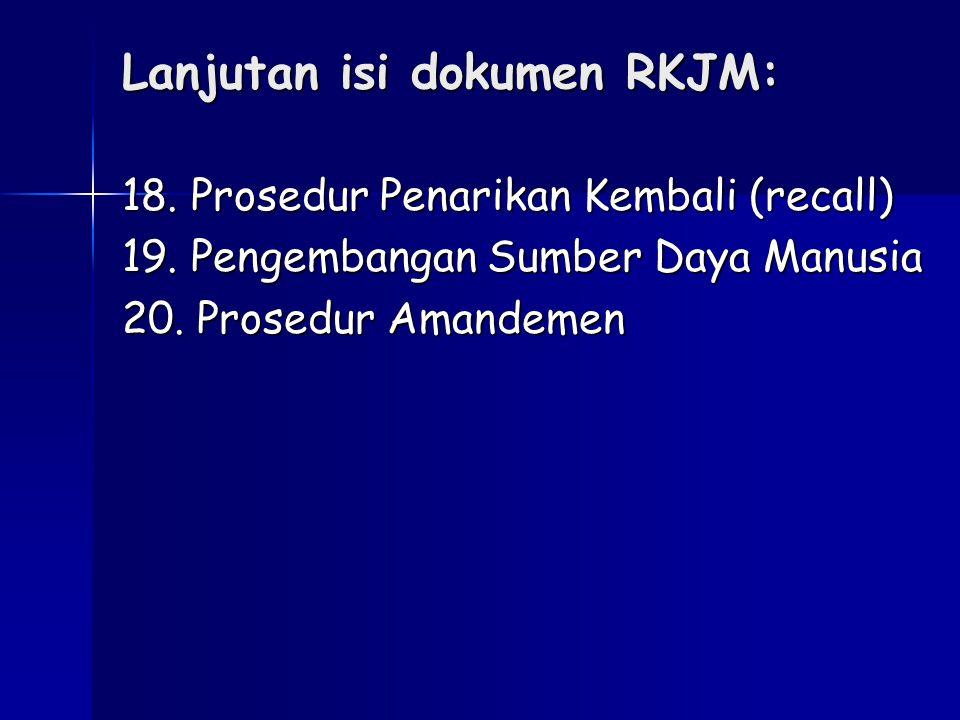 Lanjutan isi dokumen RKJM:
