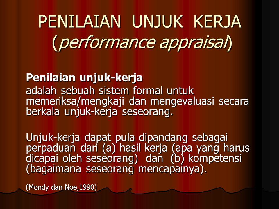 PENILAIAN UNJUK KERJA (performance appraisal)