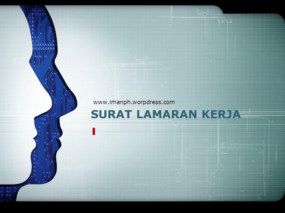 www.imanph.worpdress.com SURAT LAMARAN KERJA