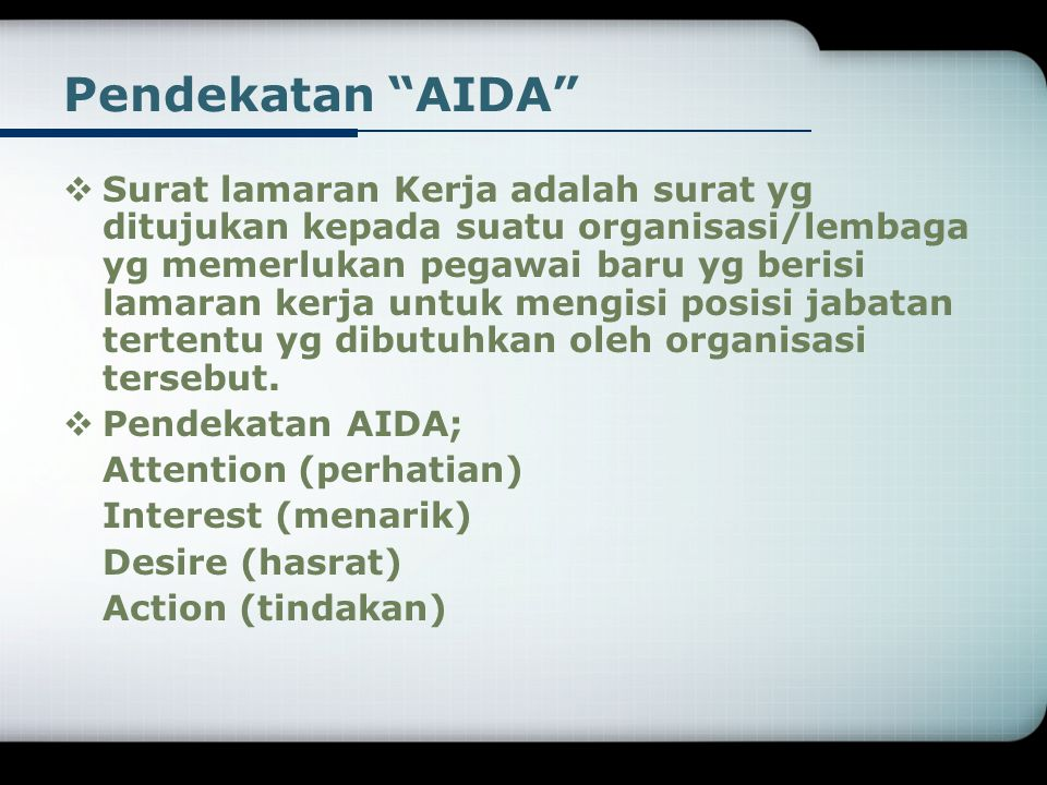 Pendekatan AIDA