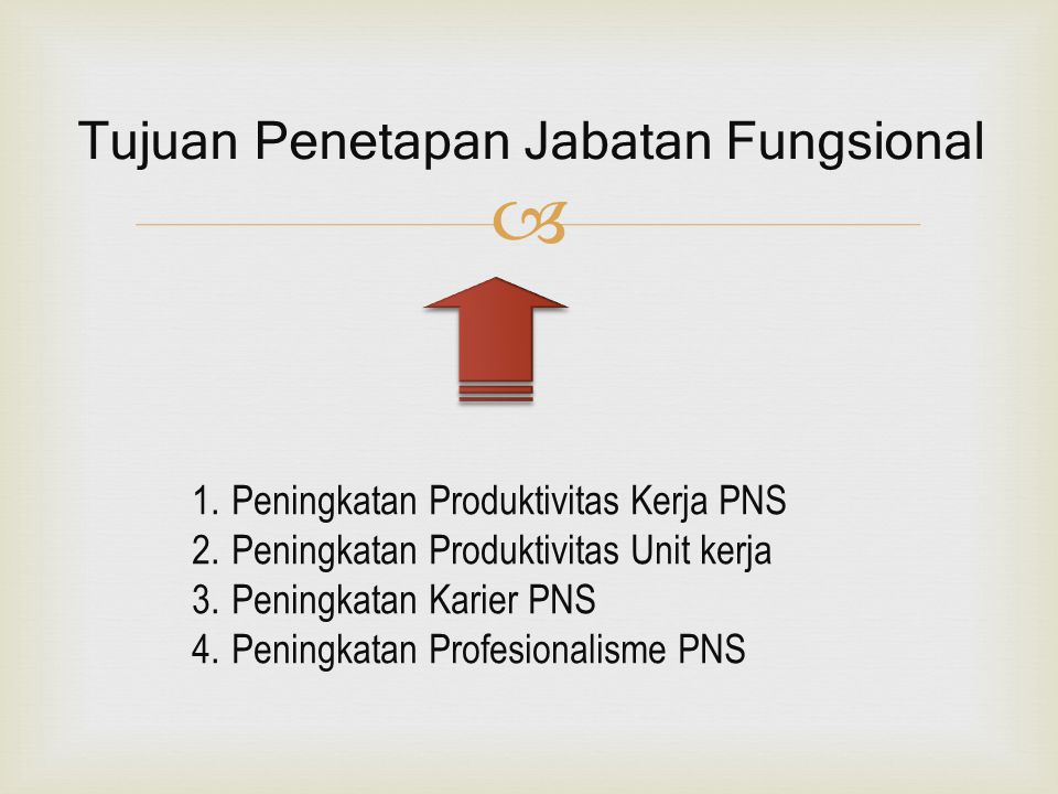 Tujuan Penetapan Jabatan Fungsional