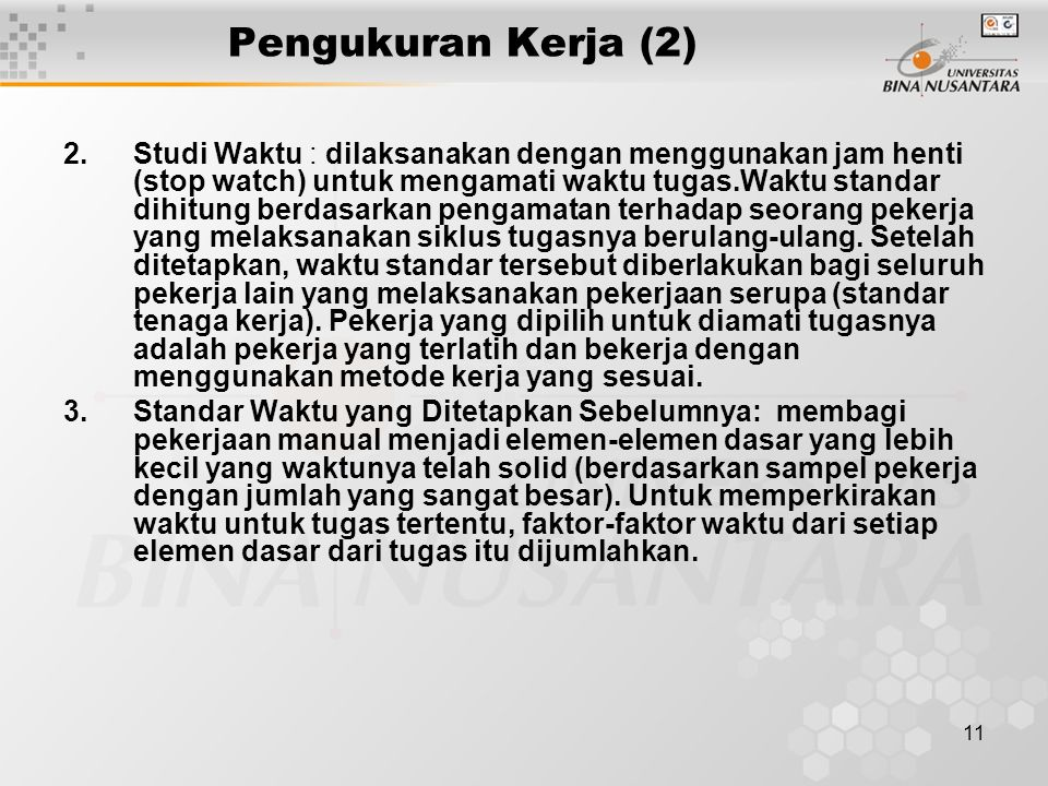 Pengukuran Kerja (2)