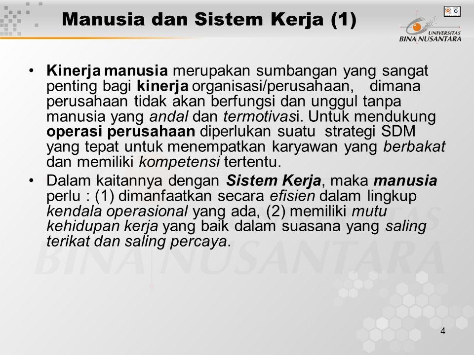 Manusia dan Sistem Kerja (1)