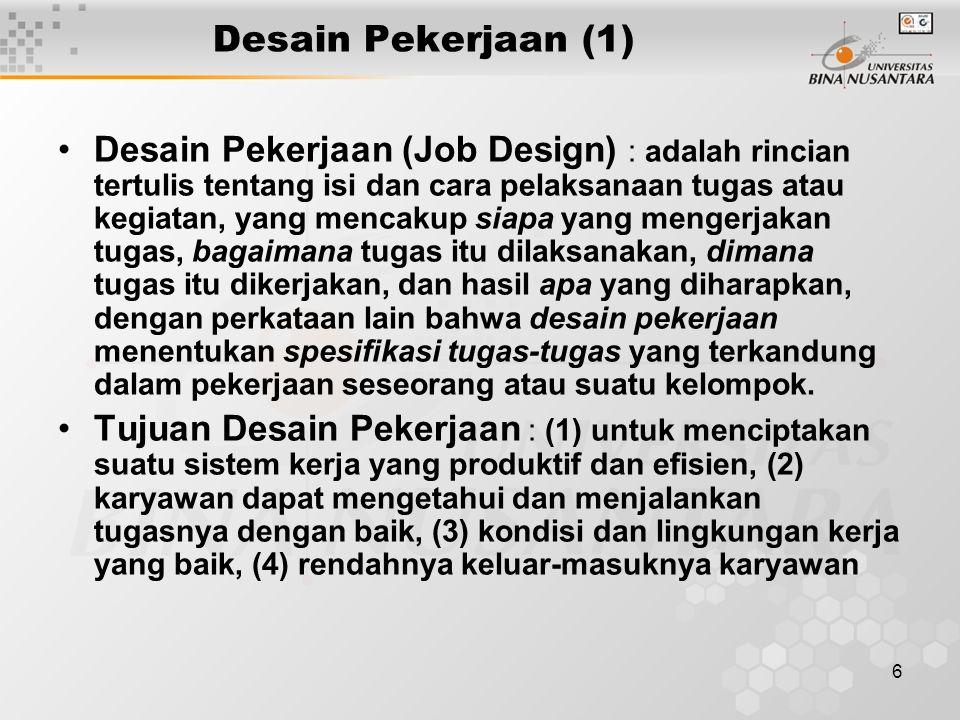 Desain Pekerjaan (1)