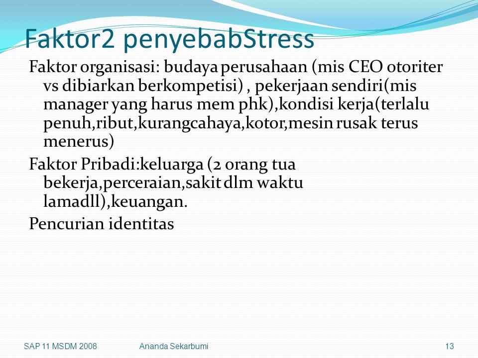 Faktor2 penyebabStress