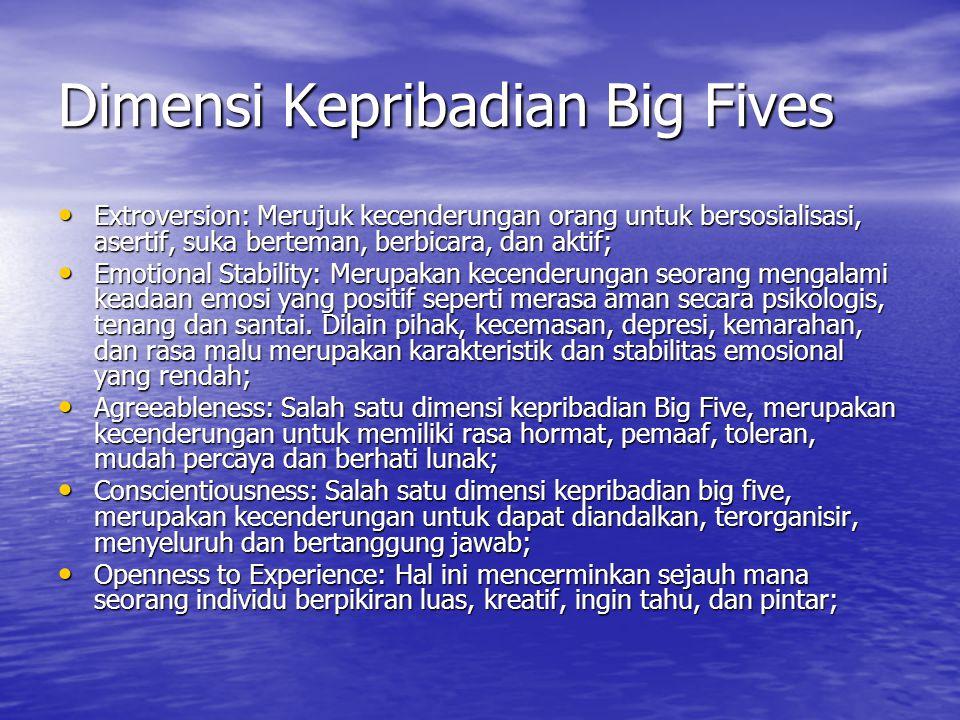 Dimensi Kepribadian Big Fives
