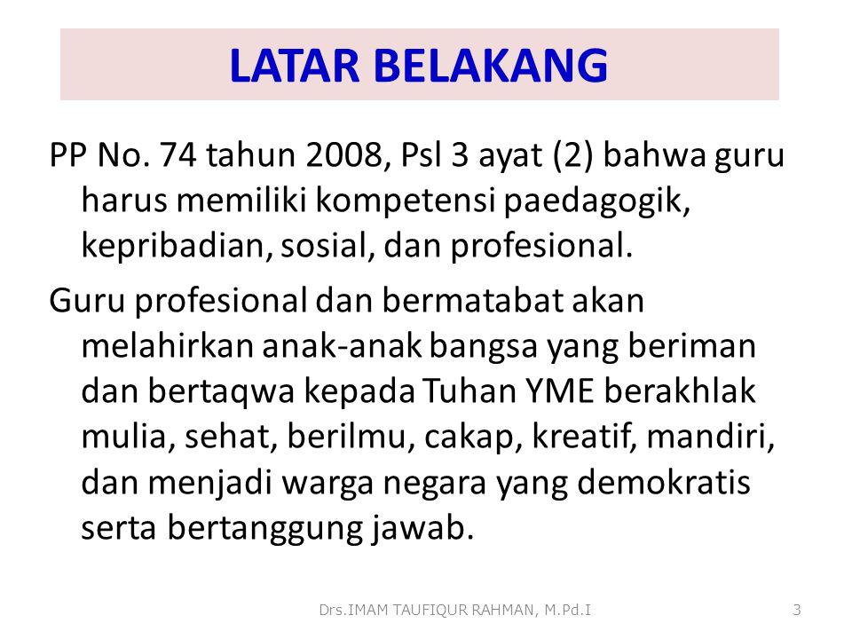 Drs.IMAM TAUFIQUR RAHMAN, M.Pd.I