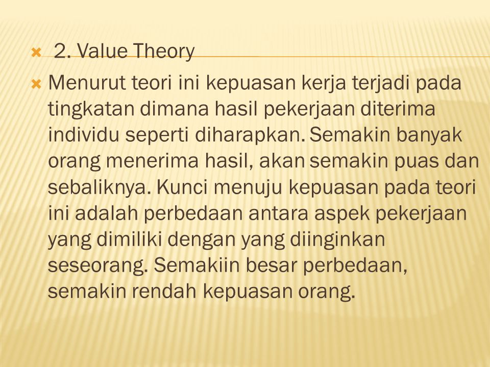 2. Value Theory