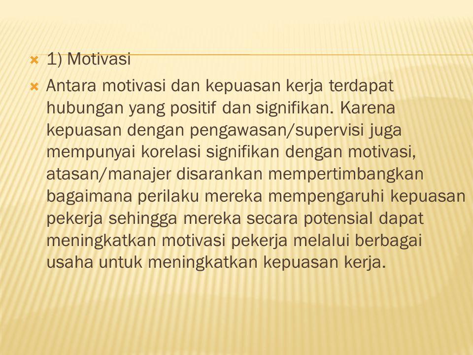 1) Motivasi