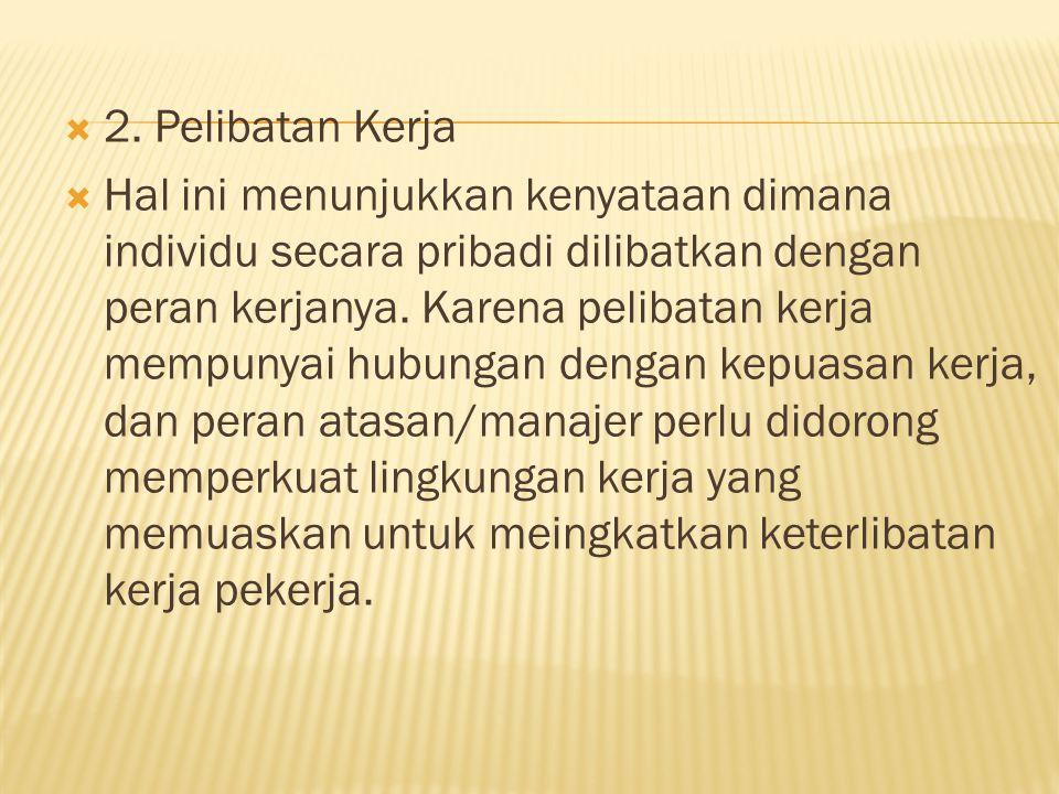 2. Pelibatan Kerja
