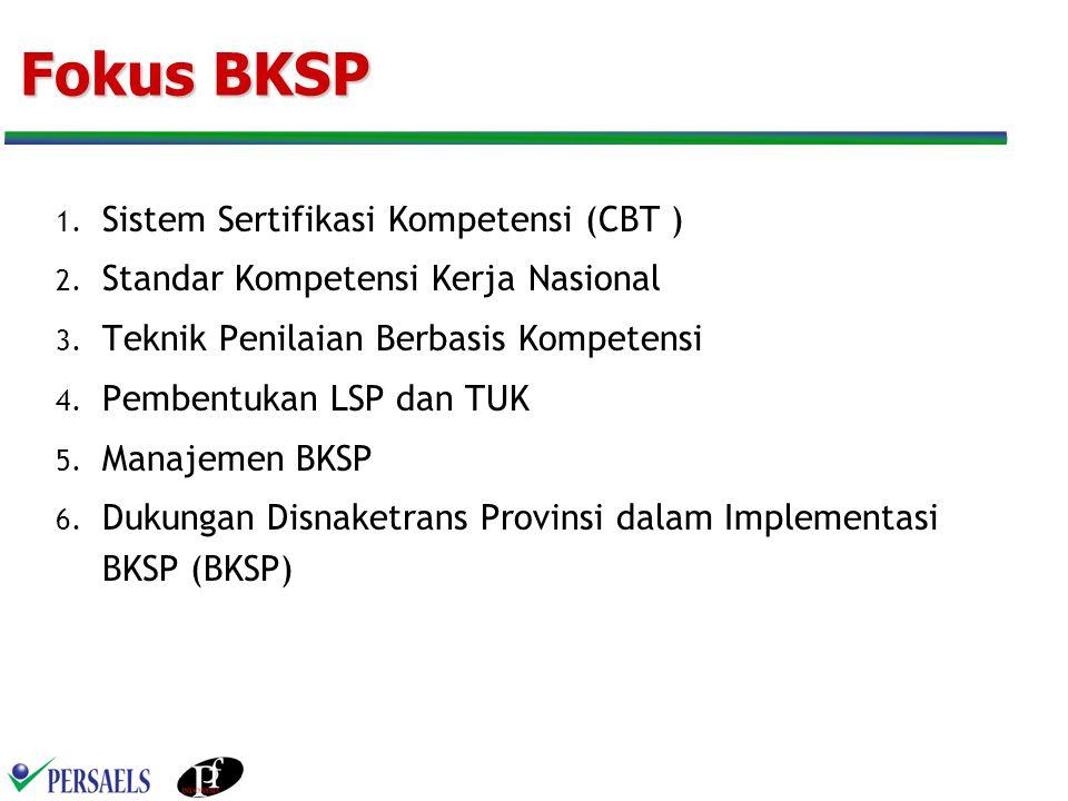 Fokus BKSP Sistem Sertifikasi Kompetensi (CBT )