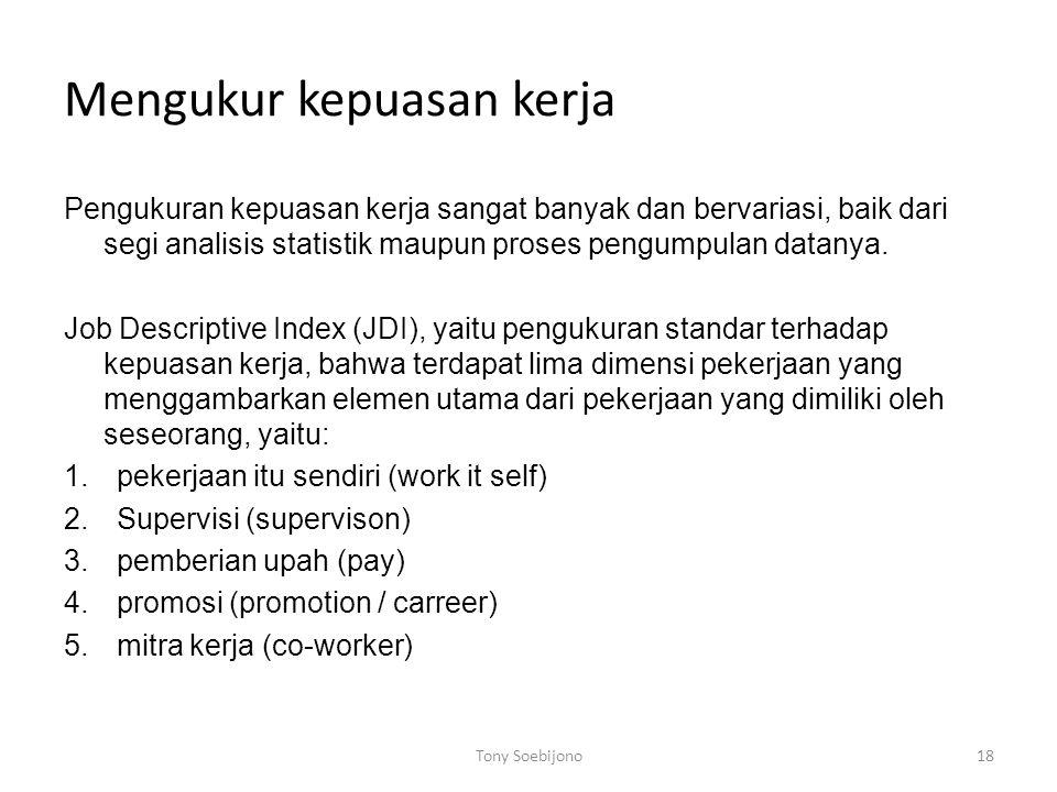 Mengukur kepuasan kerja