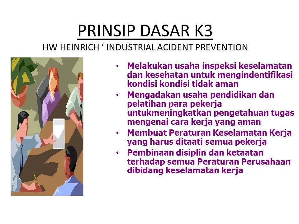 PRINSIP DASAR K3 HW HEINRICH ' INDUSTRIAL ACIDENT PREVENTION